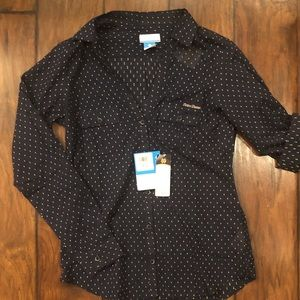 Columbia notre dame button up